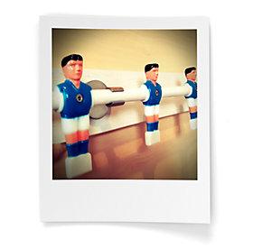 Garderobe selber bauen aus alten Fußballtisch-Figuren