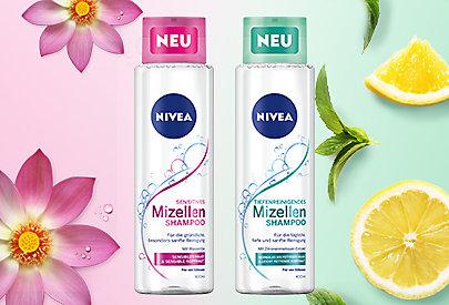 Es gibt 2 Mizellen Shampoos von Nivea. Wählen Sie das tiefenreinigende oder das sensitiv-Shampoo.