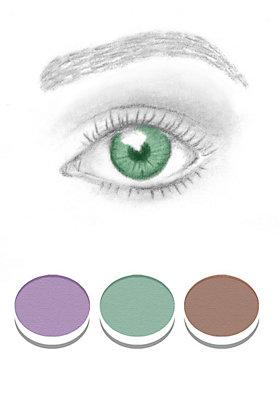 Welcher Lidschatten passt zu grünen Augen?