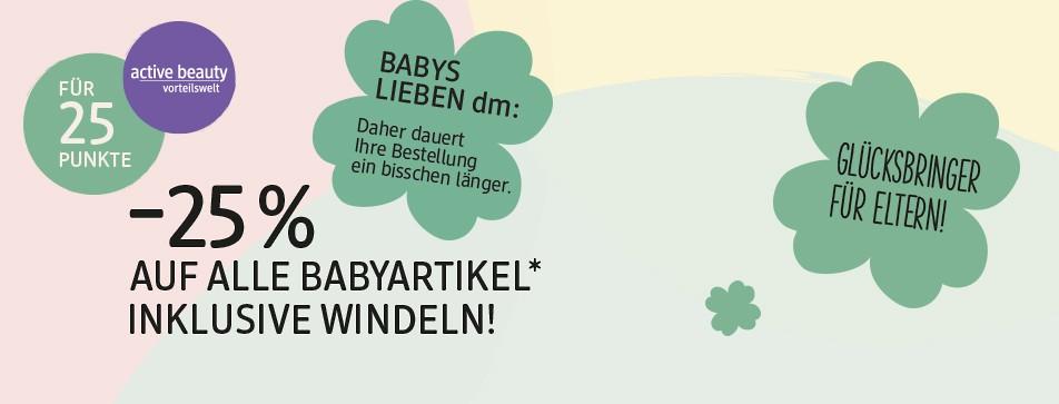 -25% auf alle Babyartikel inklusive Windeln für 25 Punkte.*