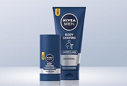 Die NIVEA MEN Body Shaving Rasierprodukte wurden extra für eine Anwendung unter der Dusche entwickelt.