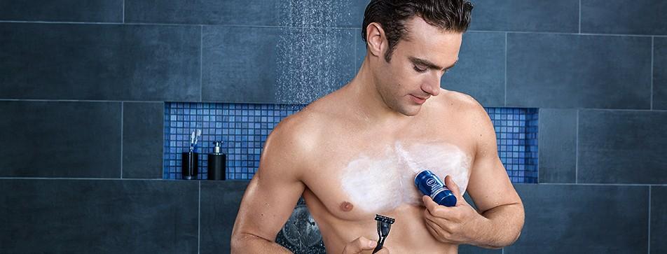 Mit der NIVEA MEN Body Shaving Serie ist Männerhaut von der Rasur bis zur Pflege bestens versorgt.