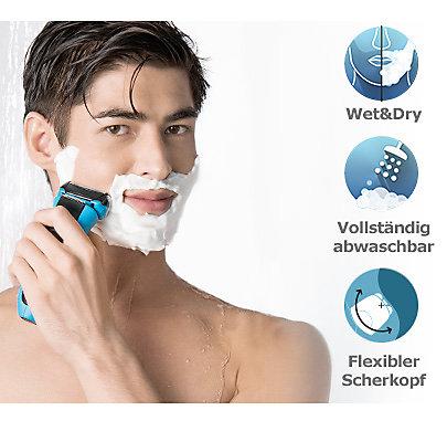Der WaterFlex von Braun ist komplett abwaschbar und kann unter der Dusche verwendet werden.