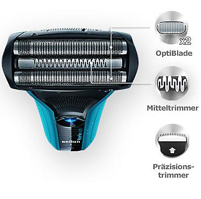 Immer präzise mit Trimmer: Bart- oder Koteletten-Styling.