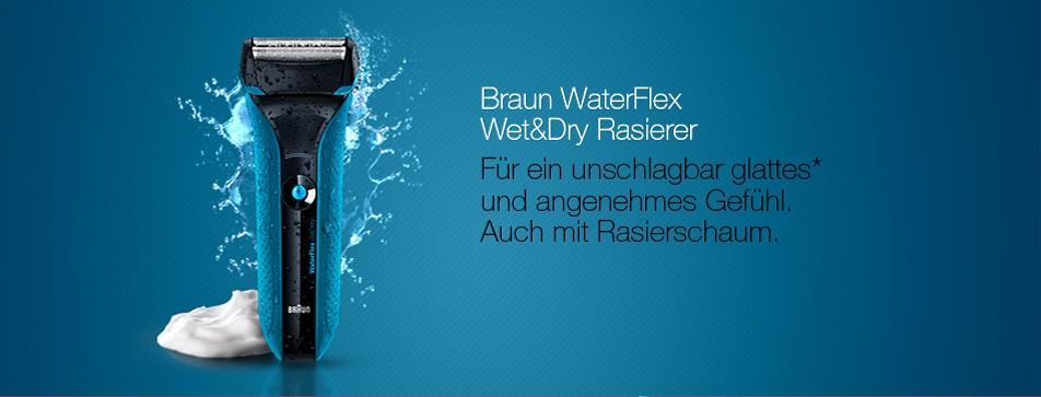 Rasieren mit oder ohne Rasierschaum - Braun WaterFlex Rasierer