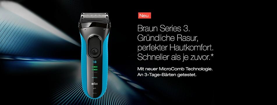 Braun Series 3 - Design trifft höchste Qualität.