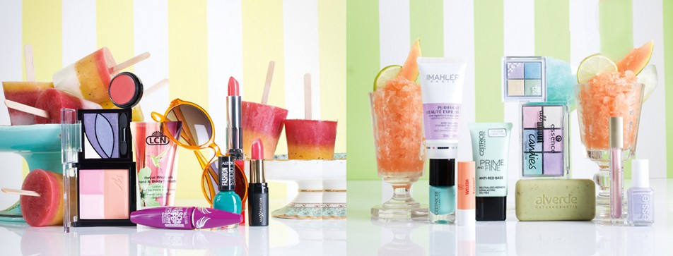 Make-Up in Sorbetfarben ist voll im Trend.