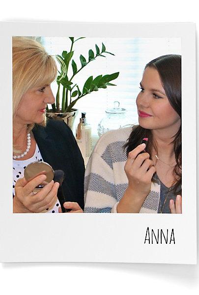 Die Vorliebe für Lipgloss hat Anna von ihrer Mutter.