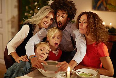 Familien-Selfie zu Weihnachten.