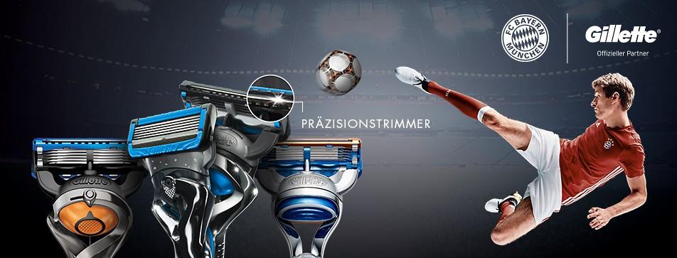 Fünf Klingen für mehr Komfort beim Rasieren: die Gillette Fusion-Rasierer.