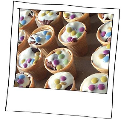 Einfach und schnell: Muffins im Eisbecher.