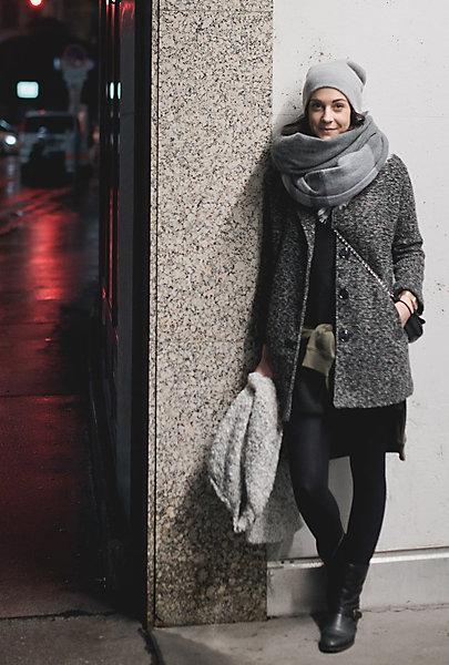 Hanna liebt Schals und Hauben im skandinavischen Stil.