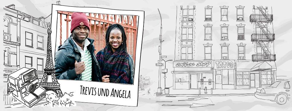 Angela liebt die Augenbrauen ihres Freundes.