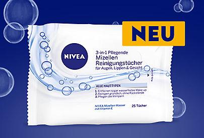 Die pflegenden Mizellen-Reinigungstücher sind für alle Hauttypen geeignet.