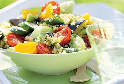 Bulgur Salat mit gegrilltem Gemüse