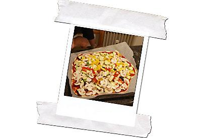 Gemüsepizza ohne Käse