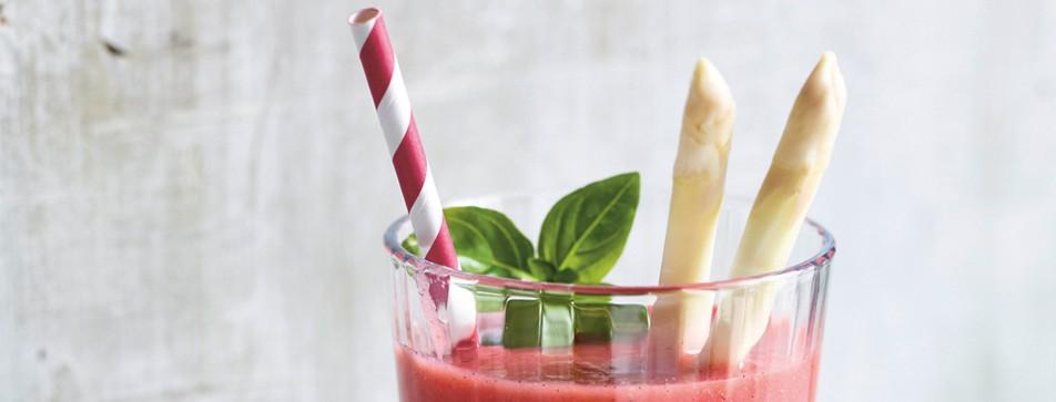 Erfrischender Erdbeer-Spargel-Smoothie