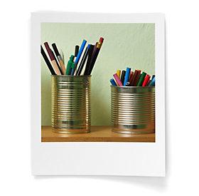 Stifteboxen aus Aludosen: Upcycling für den Schreibtisch