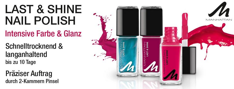 Schnell trocknender Nagellack in 41 intensiven Farben: Last & Shine von Manhattan ist da!