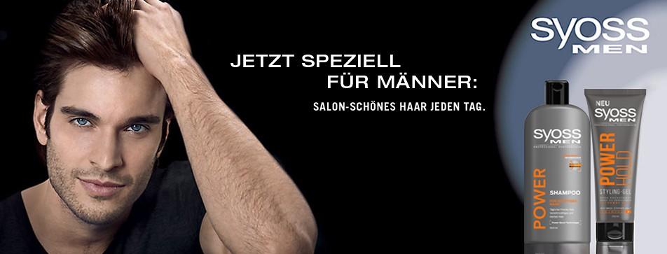 Professionelle Haarpflege und Haarstyling-Produkte für Männer von SYOSS.