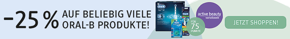 -25% auf beliebig viele Oral-B Produkte