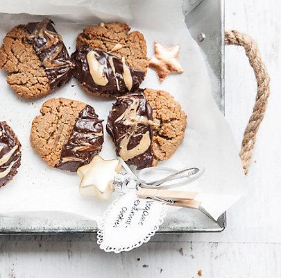 Zubereitung Erdnussmus-Cookies.