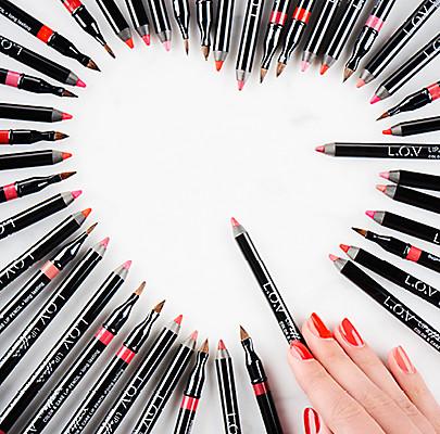 L.O.V ist das Versprechen für hochwertigste Kosmetikprodukte.