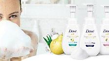 Das neue schaumige Duscherlebnis von Dove