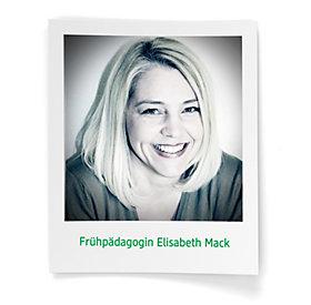 Elisabeth Mack ist Kingergartenleiterin, Frühpädagogin und selbst zweifache Mutter.