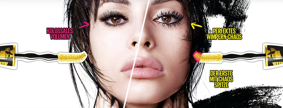 Volumen und Ausstrahlung - mit der Colossal go Chaotic Mascara von Maybelline!