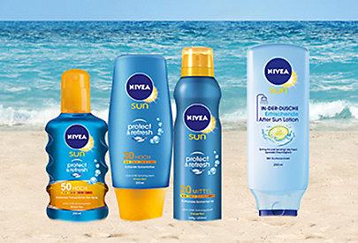 In der Sonne und nach der Sonne: die neuen Nivea-Produkte sind die richtige Wahl.
