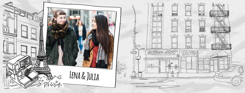 Streetstyle: Lena und Julia.