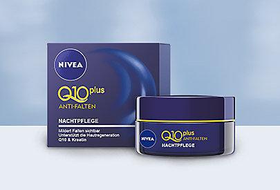 NIVEA Q10plus Anti-Falten Nachtpflege - bekämpft die Falten im Schlaf.
